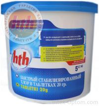 Быстрый стабилизированный хлор в таблетках по 20гр 5кг